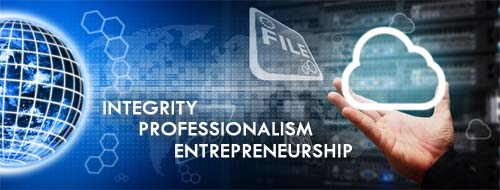 Integrity, Professionlism, Entrepreneurship